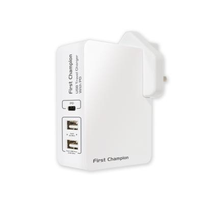 First Champion UTC345PD USB Travel Charger-45W USB-A & USB-C